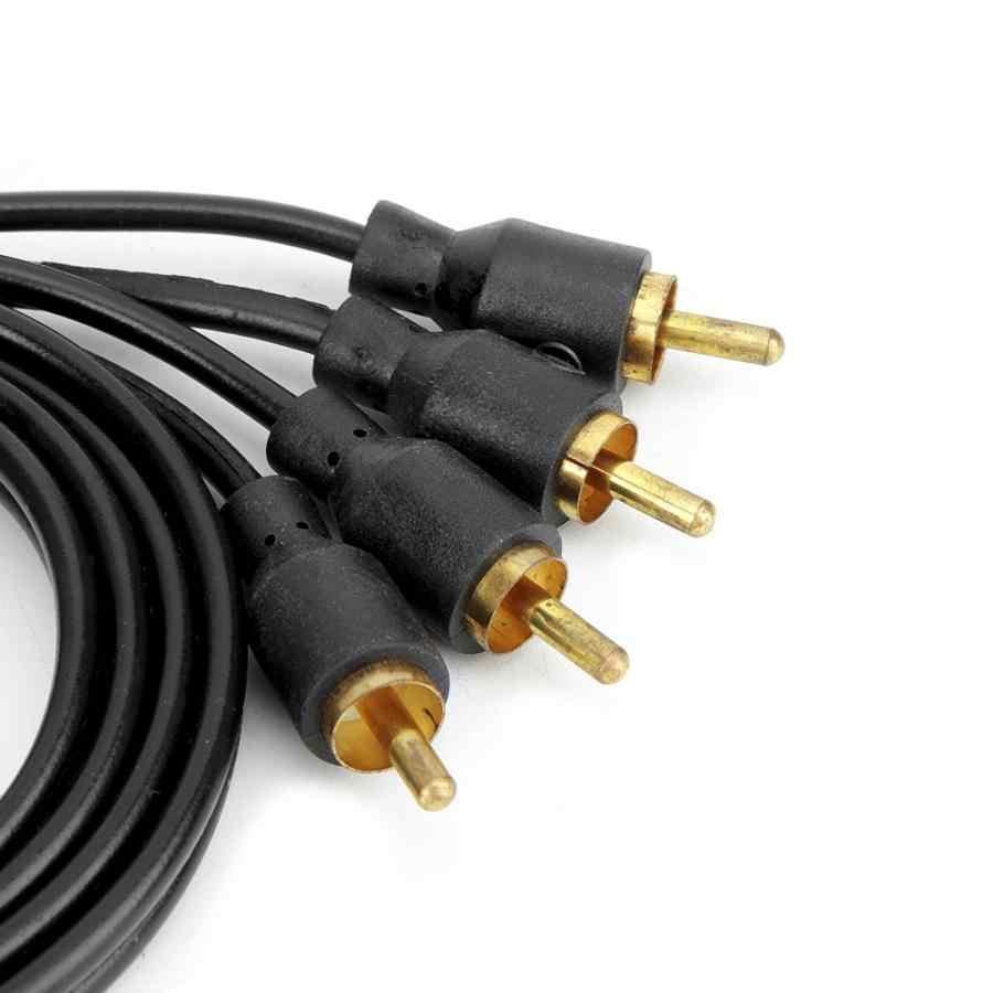 רכב RCA אודיו כבל חשמל רמקול מגבר חוט טהור נחושת 3.9ft עראבה aksesuar accessoire voiture רכב אבזרים
