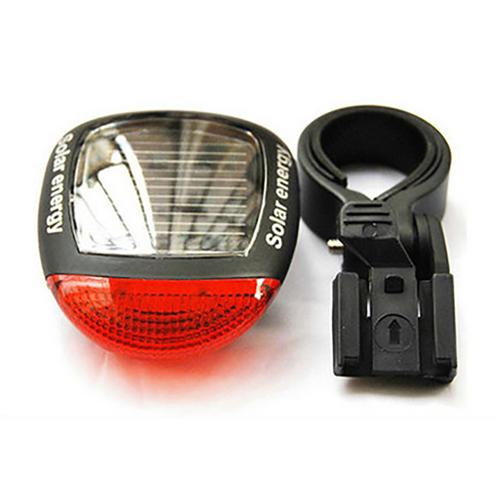 Outdoor Cycling Bicycle Solar Energy Light Rechargeable LED Seatpost Lamp Bike Back Rear Tail Light Bicycle Accessories