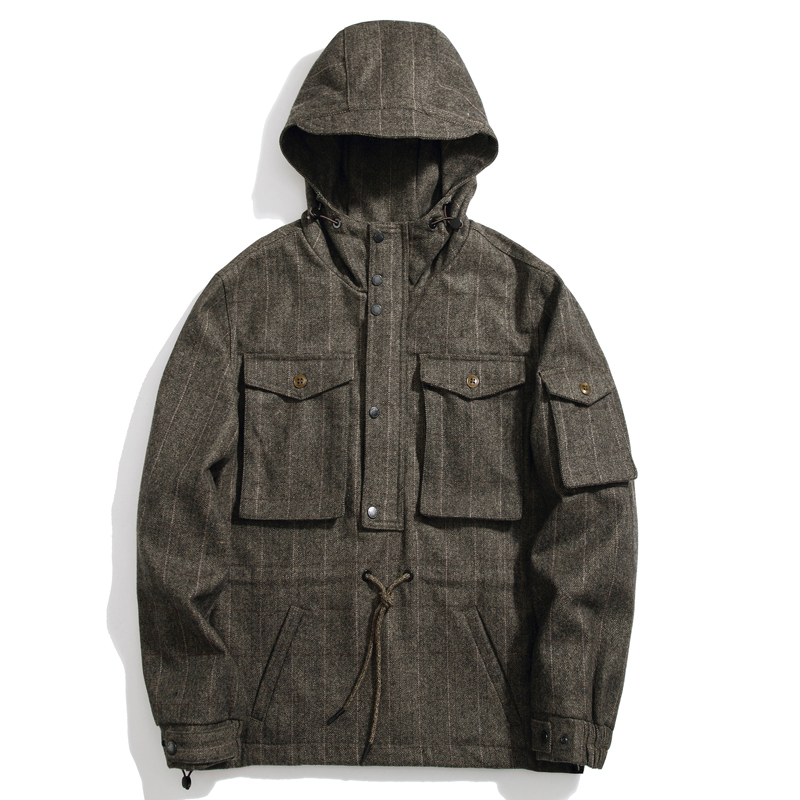 SauceZhan Wool & Blends Snowboarding Jacket Winter Wool Coat Men Mens Coats and Jackets Mens Trench Coat Jacket Men Wool Jacket