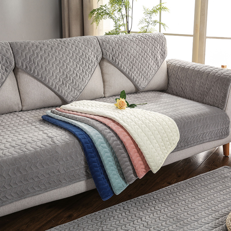 Gray Color Plush Sofa Cushion