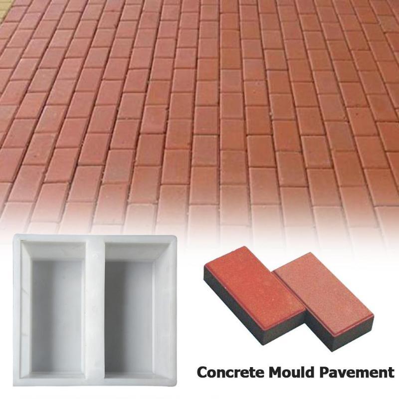 Manually Paving Cement Brick Concrete Molds Plastic Garden Path Maker Paving Cement Mold Road Concrete Pavement Mold Decoration