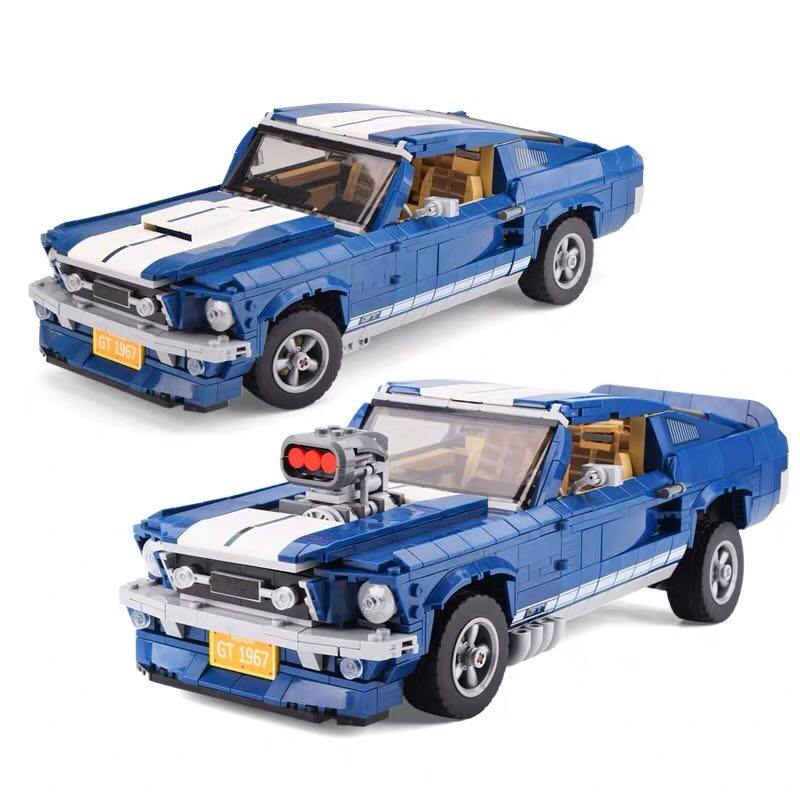 Creator Technic Expert Series 1967 Forded Mustanged Car Building Blocks Kit Brick Educational DIY Toy For Children Gifts