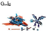 GonLeI Bela 10596 Compatible with Legoinglys Knights Clay Falcon Fighter Blaster Models Building Blocks Bricks Toys