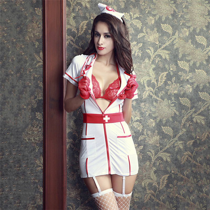 Women Passion Temptation Nurse Uniforms Cosplay Role Playing Outfits Erotic Lingerie Sexo Dress Sexy Costumes Halloween Suits