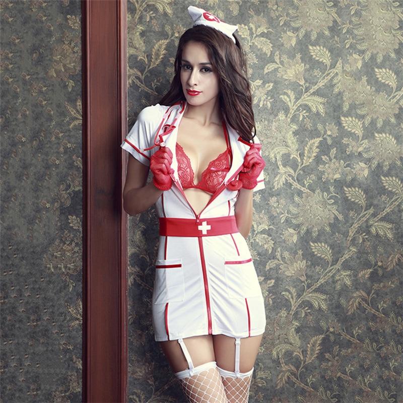 Kadın tutku günaha hemşire üniformaları Cosplay rol oynayan kıyafetler erotik iç çamaşırı Sexo elbise seksi kostümleri cadılar bayramı takım elbise