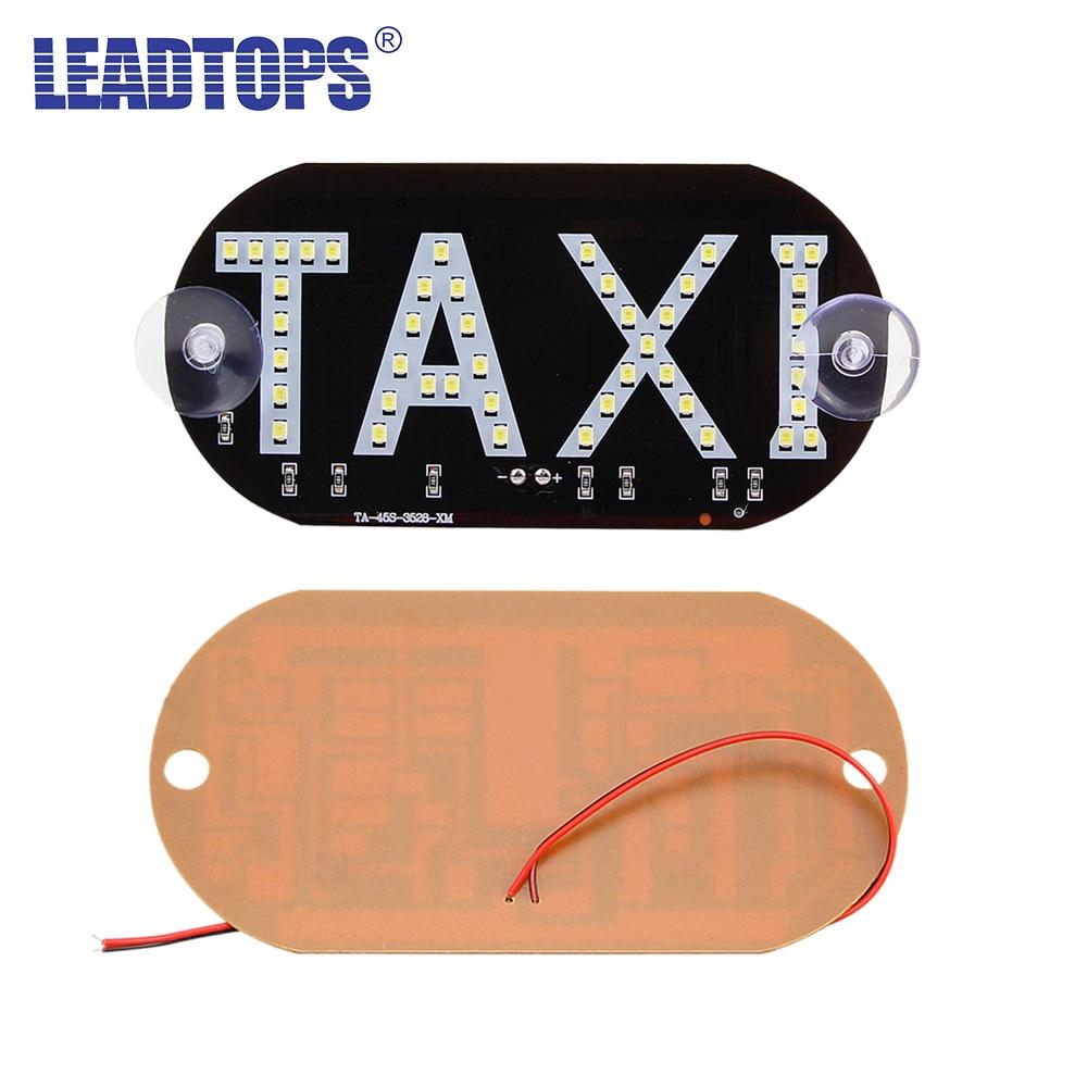 LEADTOPS 1 pc / बहुत टैक्सी एलईडी कार विंडस्क्रीन कैब इंडिकेटर लैम्प साइन ब्लू एलईडी विंडशील्ड टैक्सी लाइट लैम्प 12V BJ