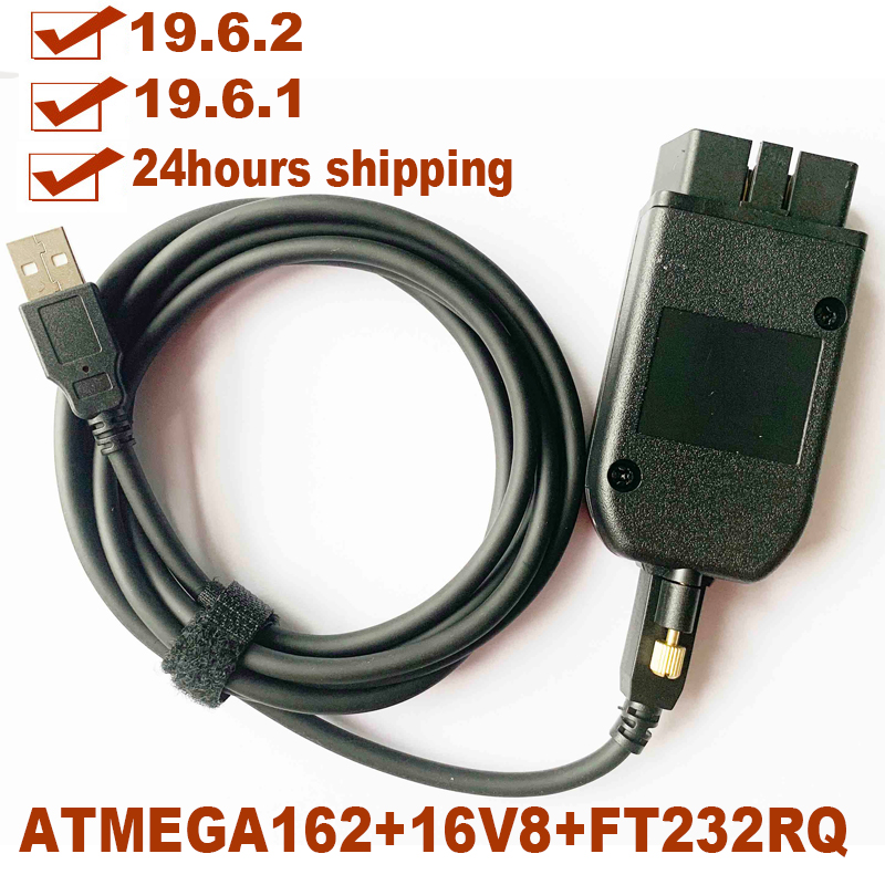 Electrical Testers General OBDII 16Pin Diagnostic Cable 19.6.1/19.6.2 Interface 2nd ATMEGA162+16V8B+FT232RQ