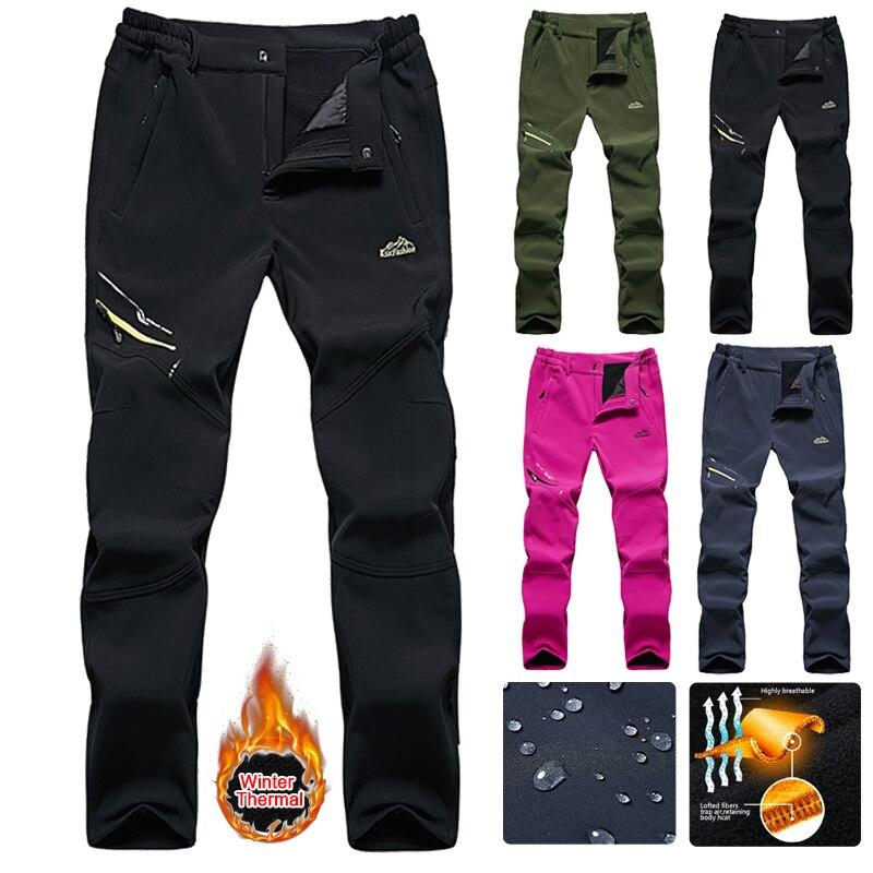 Men Women Snowboard Ski Pants Winter Outdoor Windproof Snow Trousers Skiwear Male Waterproof Warm Trekking Hiking Skiing Pants