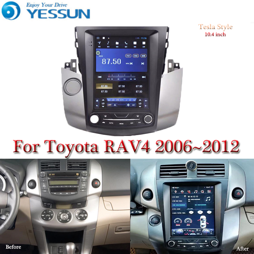 Tesla screen For <font><b>Toyota</b></font> <font><b>RAV4</b></font> XA30 2006-2012 Car Android Multimedia Player 10.4 inch Car Radio stereo Audio GPS Navigation image