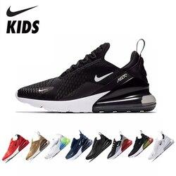 NIKE AIR MAX 270  Детские Кроссовки Оригинальная Детская Обувь Для Бега Удобные Спортивные Уличные Сетчатые Кроссовки #943345
