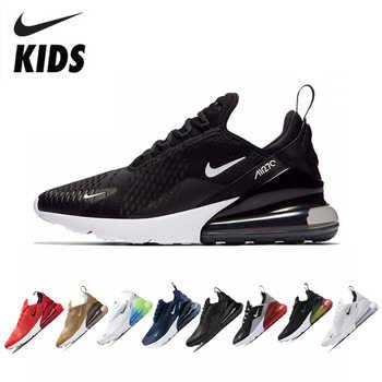 Nike air max 270 crianças originais tênis de corrida confortáveis esportes ao ar livre malha #943345