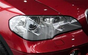 Image 4 - سيارة عدسة المصباح الأمامي لسيارات BMW X5 E70 2008 2009 2010 2011 2012 2013 سيارة العلوي كشافات عدسة السيارات قذيفة غطاء