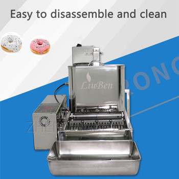 Four Rows Mini Fully Automatic Donut Machine 110V/220V Donatz Pastry Dessert Bakery Restaurant Commercial Electrical Appliances yueding baked donut machine belshaw donut machine