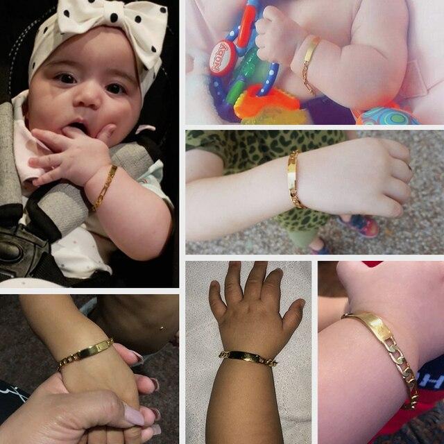 Купить id браслет с гравировкой для детей гладкий figaro 5 мм 12/14/16 картинки цена