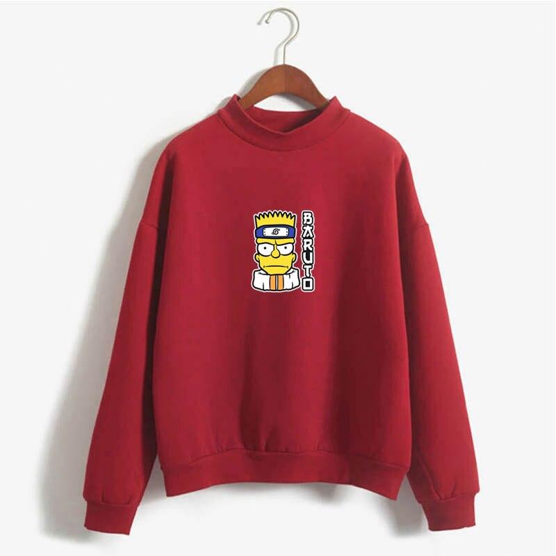 Bart Simpson Identity Crisis Funny Anime Funny Harajuku Top Sweatshirt Commuter Top