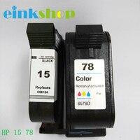 Einkshop 15A 78A 교체 hp 15 78 Deskjet 845c 920c 810c 812c 816c 825c 840c 3920 프린터 잉크
