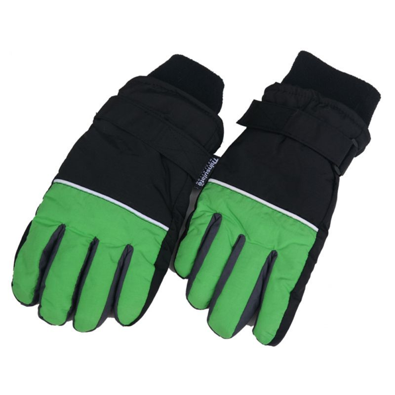 Winter Children Unisex Ski Gloves Anti-slip Waterproof Windproof Snowboard Snow Gloves Outdoor Camping Cycling Thermal Gloves