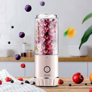 Multi-function Portable Juicer Electric USB Rechargeable Smoothie Blender Cute Mini Fruit Juice Cup Children\'s Food Maker Home