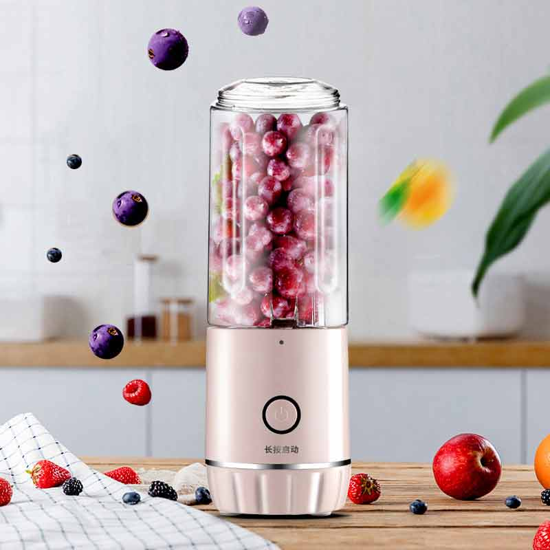Multi-function Portable Juicer Electric USB Rechargeable Smoothie Blender Cute Mini Fruit Juice Cup Children\'s Food Maker Home image