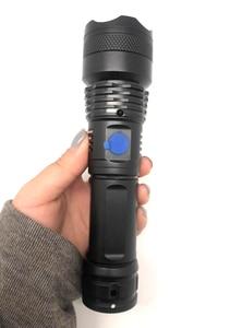 Самый мощный светодиодный фонарик P500, 3 режима, зарядка через USB, аккумулятор 18650, АБС пластик Фонарики и осветительные приборы      АлиЭкспресс