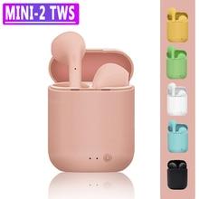 Macaron Earbuds Headphones Matte TWS Mic-Charging-Box Bluetooth Wireless with Mini-2