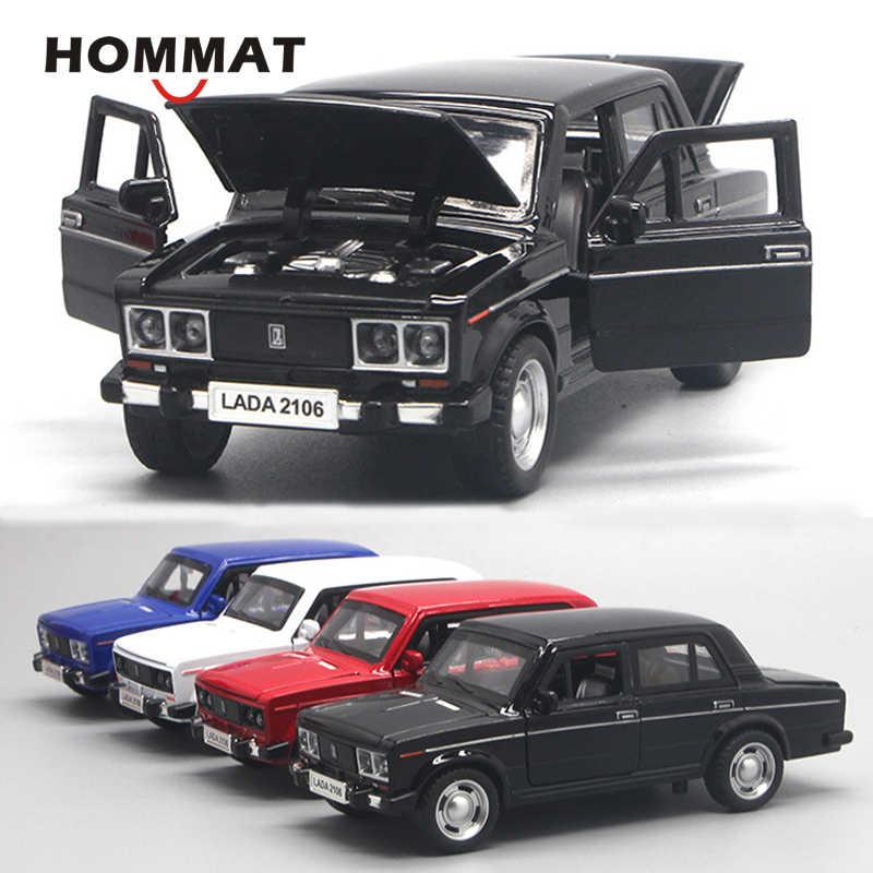 1:32 VAZ Lada 2106 Metall Die Cast Modellauto Auto Spielzeug Model Pull Back Rot
