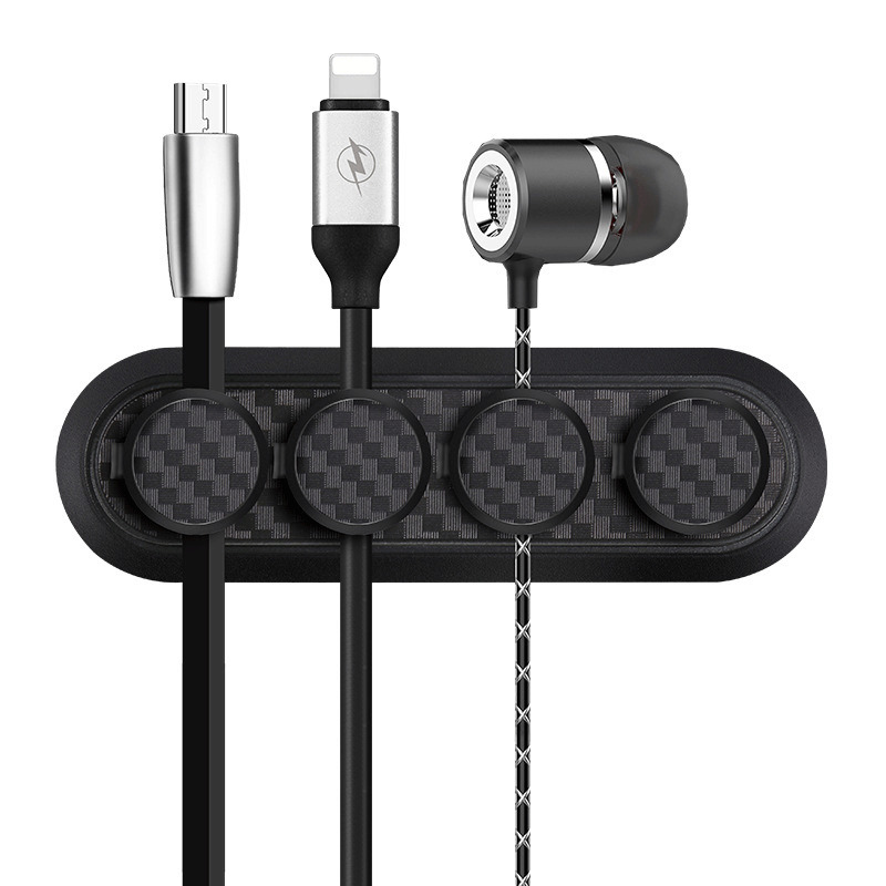 Magnetic <font><b>Cable</b></font> Clip USB Data <font><b>Cable</b></font> Line Earphone Desk <font><b>Organizer</b></font> Holder Desktop <font><b>Cable</b></font> Winder Storage image