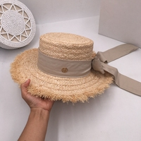 Japanese sweet lafite chic summer sun hat ladies elegant foldable bow ins style fake cool hat
