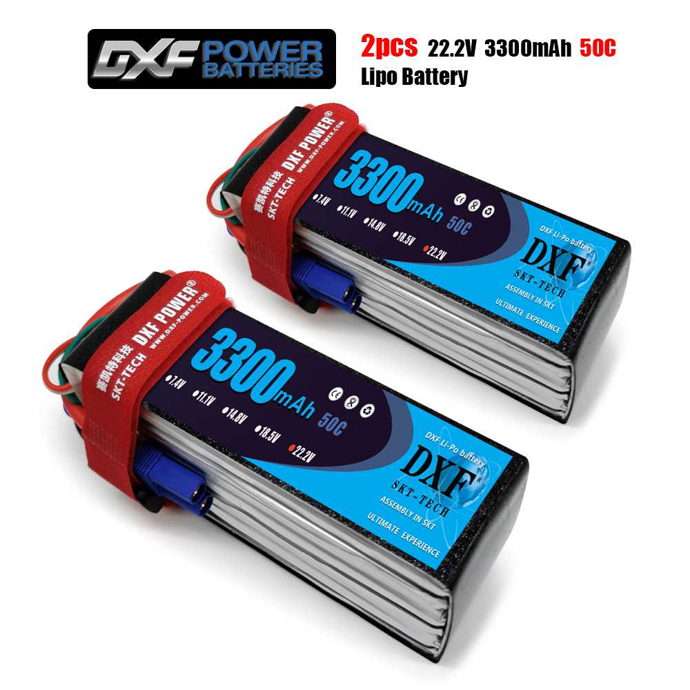 DXF <font><b>3300mAh</b></font> 22.2V 50C-100C Lipo battery <font><b>4S</b></font> XT60/DEANS/XT90/EC5 For AKKU Drone FPV Truck four axi Helicopter RC Car Airplane image