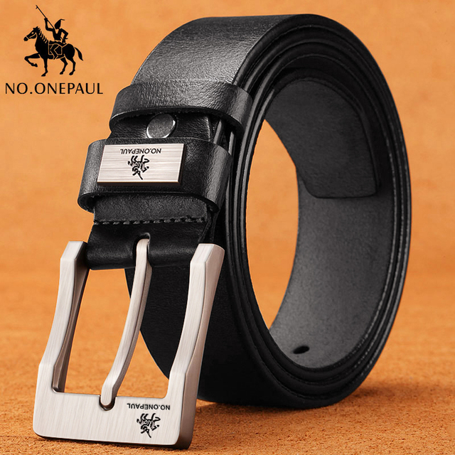 Genuine leather luxury strap male belts for fashion classic vintage pin buckle High Quality 4