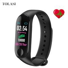 M3 Bracelet Men Women Smart Band Waterproof Heart Rate Blood Pressure Monitor Sports Wristband PK Mi 3 Reloj Hombre