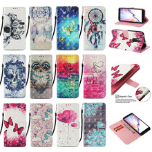 Luxury 3D Painted Phone Cases For LG K40 K12 Plus Case For Google Pixel 4 4 XL Flip PU Leather Wallet Card Slots Cover Bag Gifts