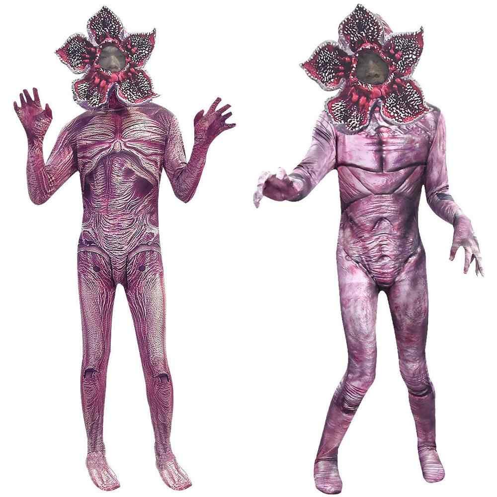 Demogorgon niños extraños cosas 3 Hombre-eater flor miedo mono Halloween Disfraces Bodysuit carnaval fiesta Creepy ropa máscara