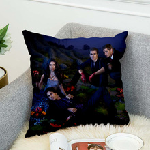 the Vampire Diaries Pillow Case Polyester 3d all ove printed Decorative Pillowcases Throw Pillow Cover style-2 marilyn monroe pillow case polyester decorative pillowcases throw pillow cover style 9