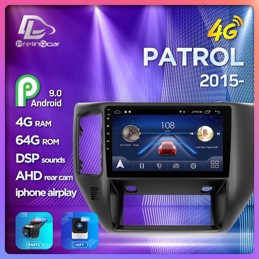 Prelingcar pour NISSAN patrouille-2015 ans moniteur de voiture Radio multimédia lecteur vidéo Navigation GPS Android 9.0 4G stéréo