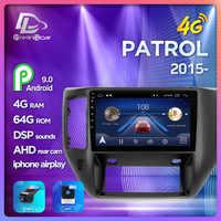 prelingcar For NISSAN PATROL-2015 years Car monitor Radio Multimedia Video Player Navigation GPS Android 9.0 4G stereo