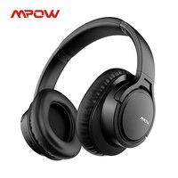 Mpow-Auriculares inalámbricos H7 por Bluetooth para tablet, TV, PC y móvil, cascos con micrófono de cuero suave