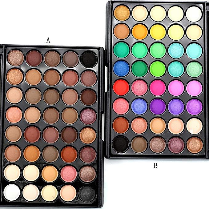 Профессиональная палитра теней для век, набор для макияжа-40 цветов, матовые мерцающие косметические тени для век, Палетка для пудры, палитра