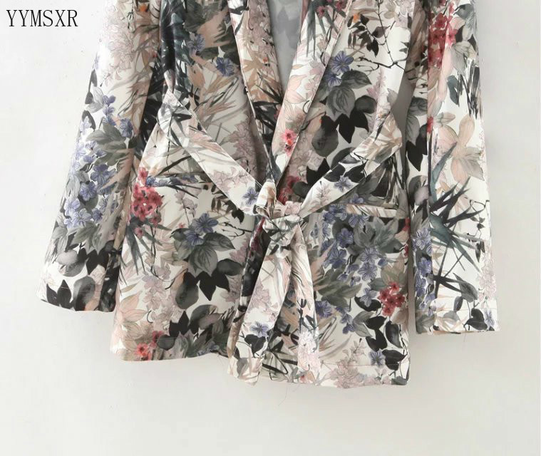 Women's jacket 2020 new summer print ladies suit feminine Casual long sleeved blazer Fashion jacket small suit Female