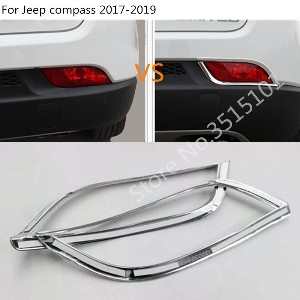 Car Accessories ABS Chrome Rear Tail Back Fog Light Lamp Cover Trim 2PCS for Nissan Kicks 2016 2017 2018