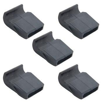 5 unids/lote de amortiguadores duraderos de arco de 1cm de plástico para tiro con arco, arco, arquería, arquería, accesorio de tiro con arco