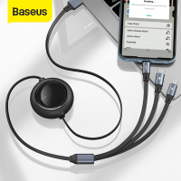 Baseus 3 in 1 USB C Cable for iPhone 13 12 X 11 Pro Max Charger Retractable Type C Cable for iPhone Huawei Samsung Xiaomi Micro USB Cable