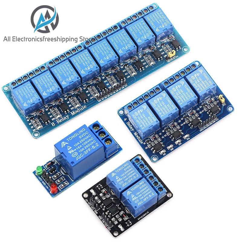 Module Relais 5V 12V 1 2 4 6 8 Canaux Avec Optocoupleur. Sortie Relais 1 2 4 6 Module Relais 8 Voies Pour Arduino En Stock