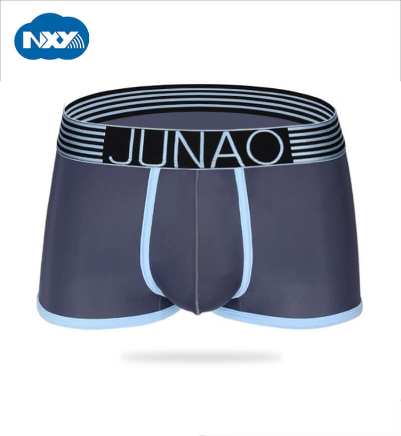 Sexy Male Underwear Shorts Boxer Seamless Nylon Mens Solid NXY Heren