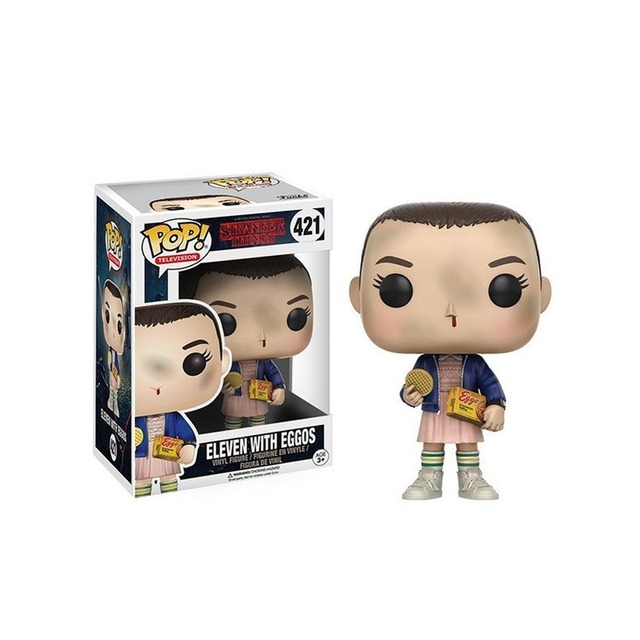 FUNKO POP Stranger Things Action Figure Toys Eleven Dustin Henderson 593# 617# Steve 475# Decoration Model Dolls for Kids Gifts 3