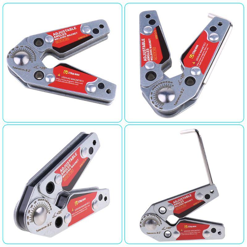 Tools : Adjustable Magnets Welding Locator Magnetic Holder Welding Fixture Corner Clamp