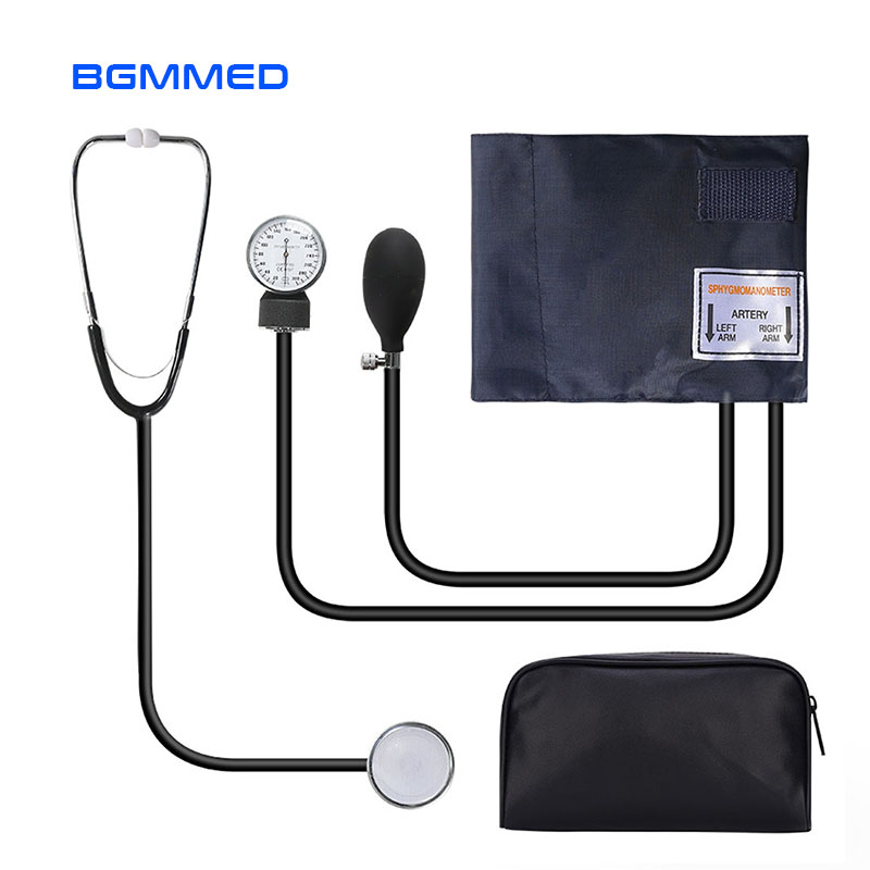 Manual Blood Pressure Monitor Measure Stethoscope Use Doctor Systolic Diastolic Sphygmomanometer Device Cuff image