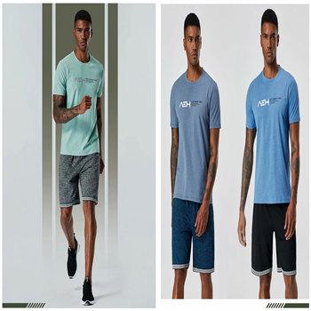 Męskie koszulki do biegania szybka kompresja na sucho t-shirty sportowe Fitness Gym koszulki do biegania koszulki męska koszulka piłkarska odzież sportowa tanie i dobre opinie
