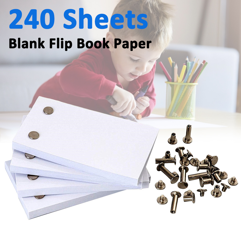240 Sheets Blank Flip Book Paper With Holes Flipbook Animation Paper Early Educational Kids Gift School Supplies For Children