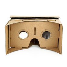 Ulter Clear DIY Cardboard 3D VR Virtual Reality Glasses For Smartphone High quality DIY Magnet Google Cardboards Glasses(China)